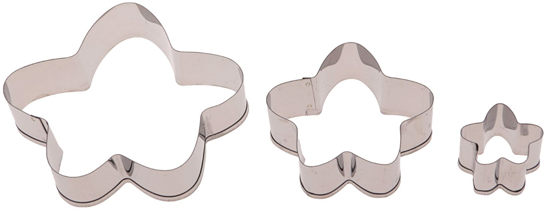 Набор форм для вырезания печенья Доляна Мультяшный цветок, 6 х 6 х 1,5 см, 3 шт2407465Металлические формы для вырезания помогут вам порадовать домашних вкусным печеньем и другой фигурной выпечкой. Подготовьте слой теста нужной толщины и нарежьте его на аккуратные кусочки, используя изделия. Благодаря быстрому распределению тепла по форме лакомство получится равномерно пропеченным и с аппетитной корочкой. Другие особенности форм: долговечность, легкость мойки, стойкость к запахам.