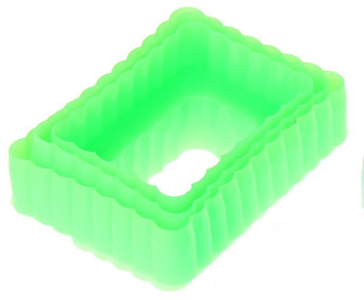 Набор форм для вырезания печенья Доляна Прямоугольник, цвет: зеленый, 9 х 6,5 х 4 см, 3 шт1259098_зеленыйНабор пластмассовых форм для вырезания печенья — это атрибут кухонного инвентаря каждого повара. Нет ничего проще, чем радовать домашних ароматной выпечкой собственного изготовления: нужно лишь замесить тесто и сделать из него аккуратные фигурки с помощью таких приспособлений.Достоинства:сохраняют форму,не впитывают запахов,легко отделяются.Сделать вкусное печенье может каждый. Попробуйте сами и убедитесь!