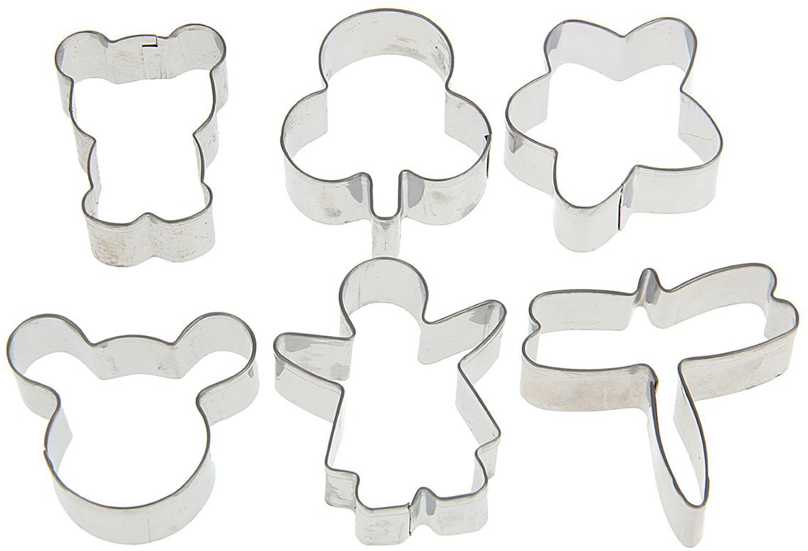 Набор форм для вырезания печенья Доляна Фигурки, 6 шт 4м фигурки из формочки грузовики