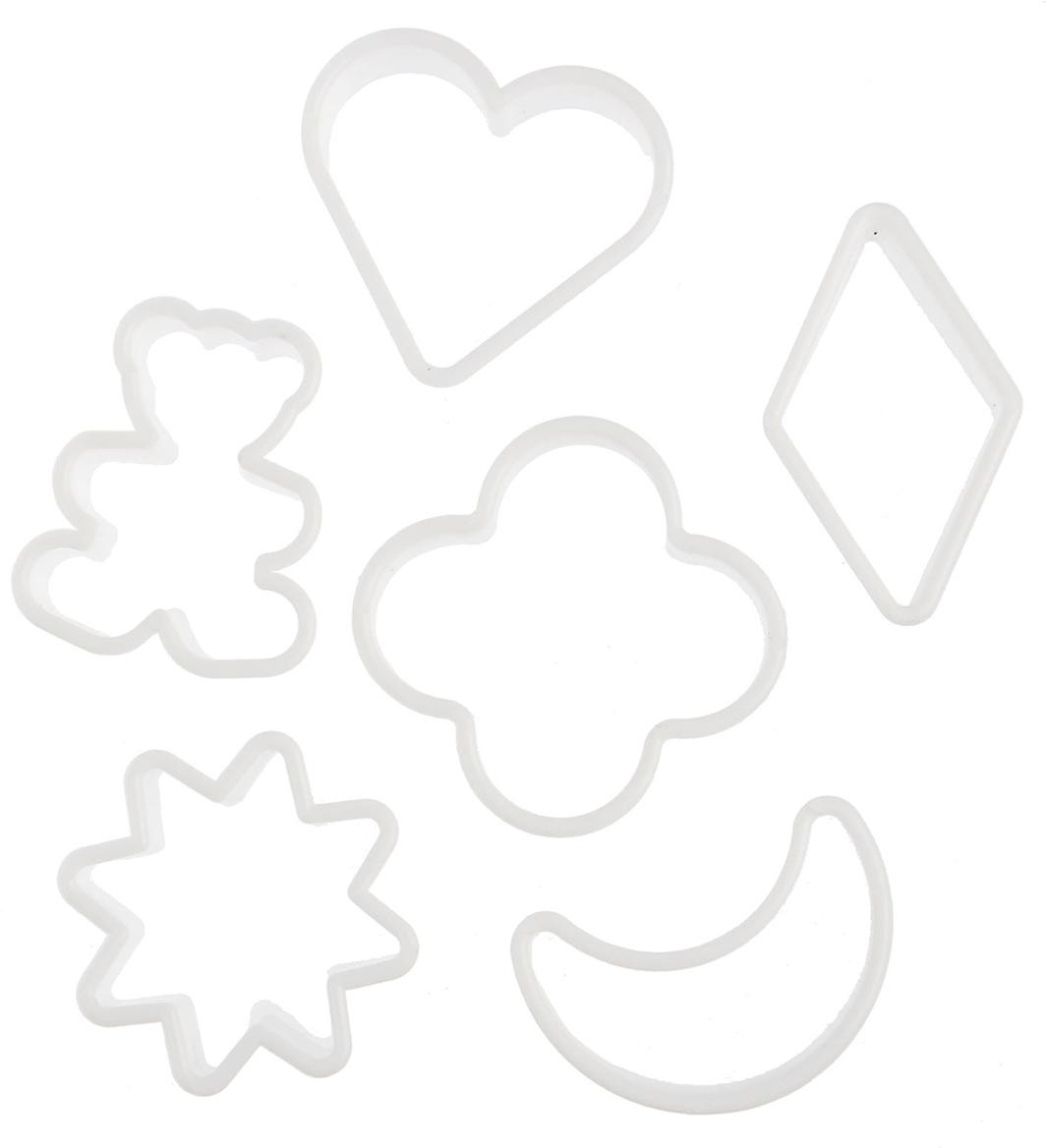 Набор форм для вырезания печенья Доляна, 5,5 х 5 х 2 см, 6 шт1045251От качества посуды зависит не только вкус еды, но и здоровье человека. Набор форм для вырезания печенья 5,5х5х2 см, 6 шт — товар, соответствующий российским стандартам качества. Любой хозяйке будет приятно держать его в руках. С нашей посудой и кухонной утварью приготовление еды и сервировка стола превратятся в настоящий праздник.