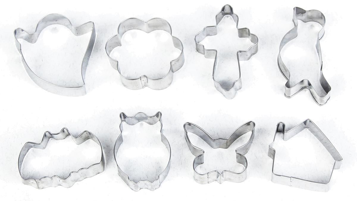 Набор форм для вырезания печенья Доляна Домик, цветок, бабочка, крестик, 8 шт набор форм для вырубки sizzix sizzlits бабочка цветок завиток