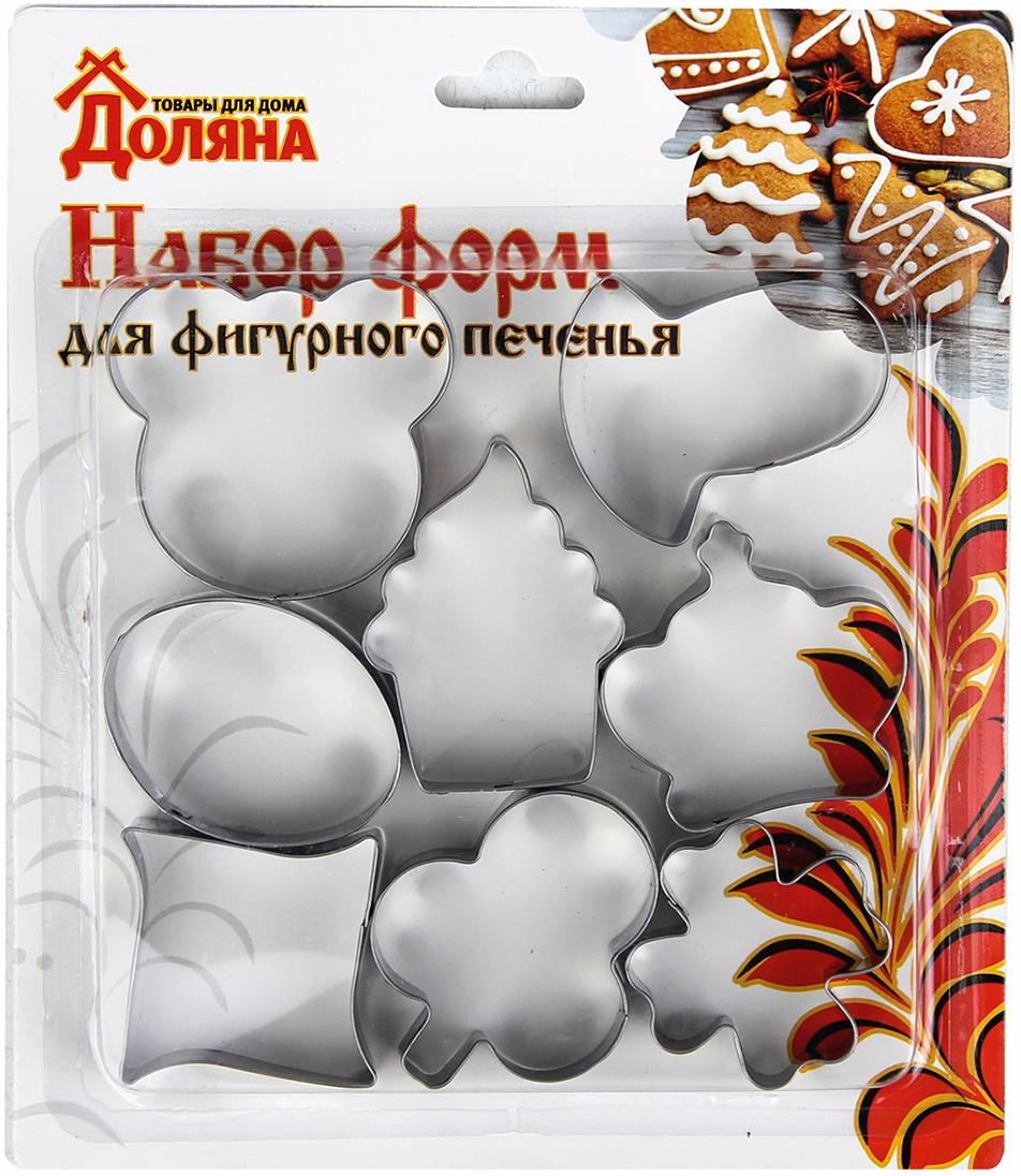 """От качества посуды зависит не только вкус еды, но и здоровье человека. Набор форм для вырезания печенья Доляна """"Мишка ,корона, клевер, гриб, овал"""" — товар, соответствующий российским стандартам качества. Любой хозяйке будет приятно держать его в руках. Приготовление еды превратится в настоящий праздник!"""