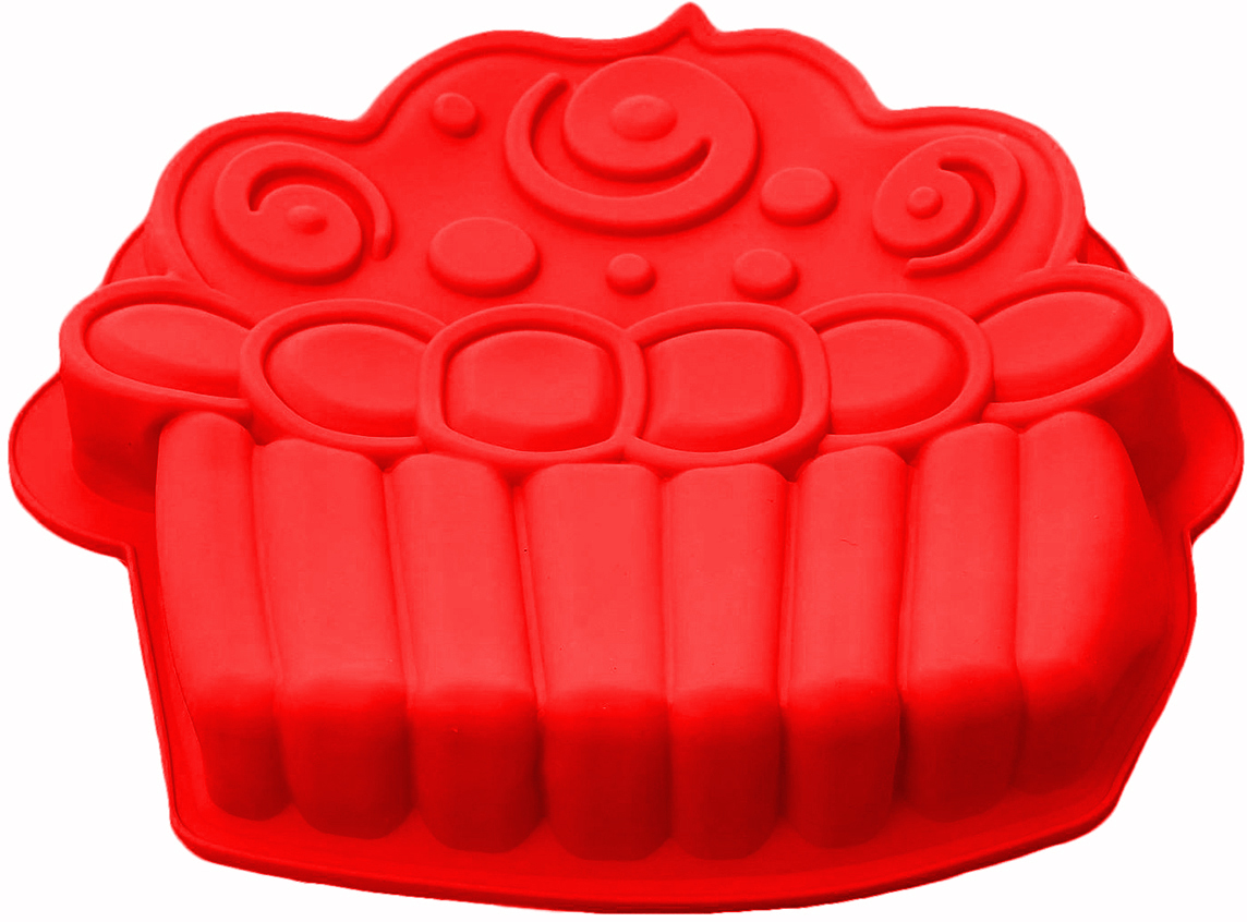 Форма для выпечки Доляна Капкейк, цвет: красный, 26 х 24,5 х 4 см1403937_красныйФорма для выпечки из силикона — современное решение для практичных и радушных хозяек. Оригинальный предмет позволяет готовить в духовке любимые блюда из мяса, рыбы, птицы и овощей, а также вкуснейшую выпечку.Почему это изделие должно быть на кухне?блюдо сохраняет нужную форму и легко отделяется от стенок после приготовления;высокая термостойкость (от –40 до 230 ?) позволяет применять форму в духовых шкафах и морозильных камерах;небольшая масса делает эксплуатацию предмета простой даже для хрупкой женщины;силикон пригоден для посудомоечных машин;высокопрочный материал делает форму долговечным инструментом;при хранении предмет занимает мало места.Советы по использованию формыПеред первым применением промойте предмет теплой водой.В процессе приготовления используйте кухонный инструмент из дерева, пластика или силикона.Перед извлечением блюда из силиконовой формы дайте ему немного остыть, осторожно отогните края предмета.Готовьте с удовольствием!