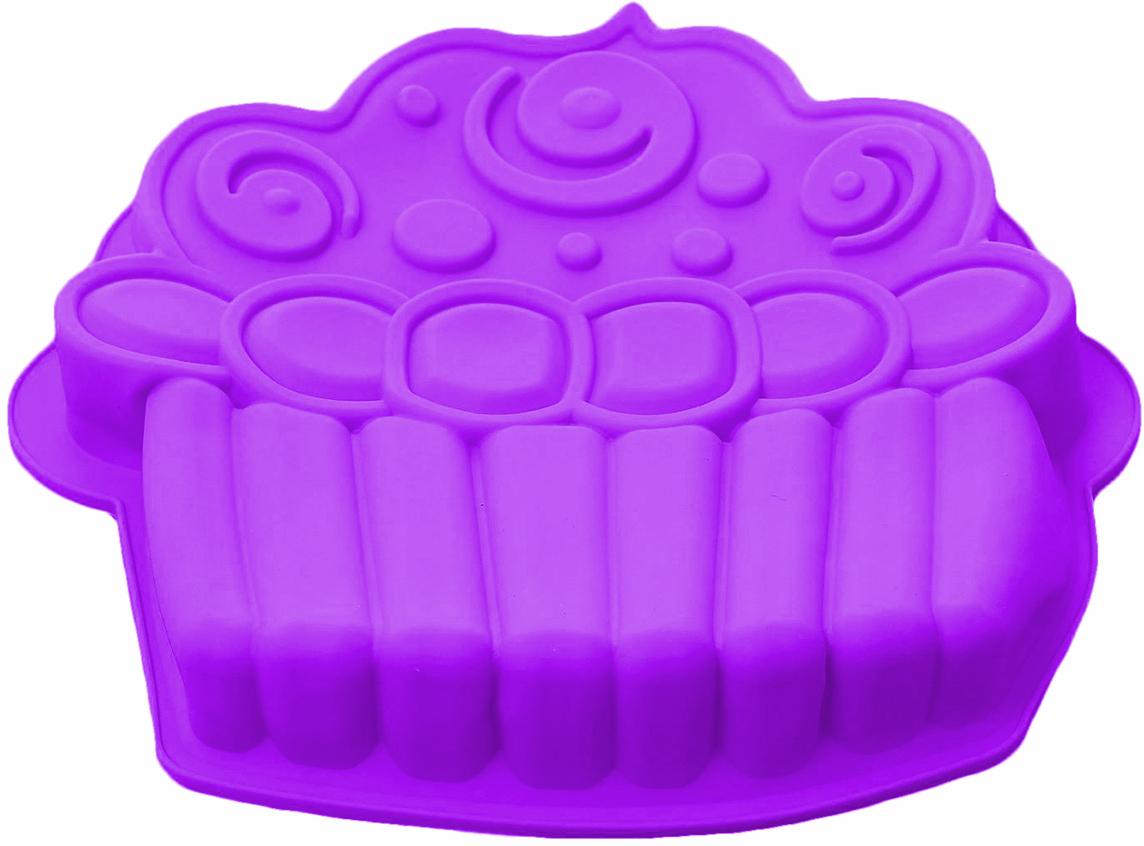 Форма для выпечки Доляна Капкейк, цвет: фиолетовый, 26 х 24,5 х 4 см1403937_фиолетовыйФорма для выпечки из силикона — современное решение для практичных и радушных хозяек. Оригинальный предмет позволяет готовить в духовке любимые блюда из мяса, рыбы, птицы и овощей, а также вкуснейшую выпечку. Почему это изделие должно быть на кухне? блюдо сохраняет нужную форму и легко отделяется от стенок после приготовления; высокая термостойкость (от –40 до 230 ?) позволяет применять форму в духовых шкафах и морозильных камерах; небольшая масса делает эксплуатацию предмета простой даже для хрупкой женщины; силикон пригоден для посудомоечных машин; высокопрочный материал делает форму долговечным инструментом; при хранении предмет занимает мало места. Советы по использованию формы Перед первым применением промойте предмет теплой водой. В процессе приготовления используйте кухонный инструмент из дерева, пластика или силикона. Перед извлечением блюда из силиконовой формы дайте ему немного остыть, осторожно отогните края предмета. Готовьте с удовольствием!