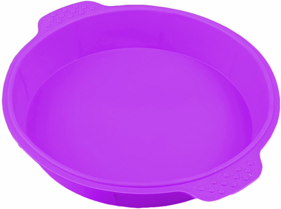 Форма для выпечки Доляна Круг, с ручками, цвет: фиолетовый, 25 х 4,5 см2389234_фиолетовыйОт качества посуды зависит не только вкус еды, но и здоровье человека. Форма для выпечки Круг с ручками 25х4,5 см, цвета — товар, соответствующий российским стандартам качества. Любой хозяйке будет приятно держать его в руках. С нашей посудой и кухонной утварью приготовление еды и сервировка стола превратятся в настоящий праздник.