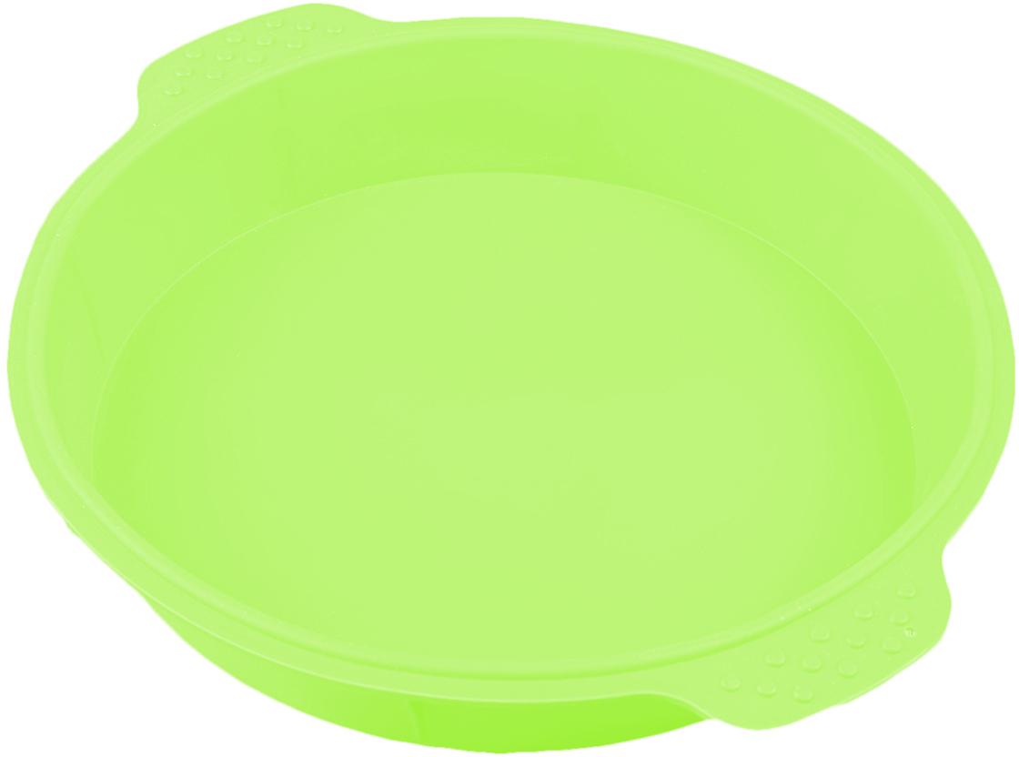 Форма для выпечки Доляна Круг, с ручками, цвет: салатовый, 25 х 4,5 см2389234_зеленыйОт качества посуды зависит не только вкус еды, но и здоровье человека. Форма для выпечки Круг с ручками 25х4,5 см, цвета — товар, соответствующий российским стандартам качества. Любой хозяйке будет приятно держать его в руках. С нашей посудой и кухонной утварью приготовление еды и сервировка стола превратятся в настоящий праздник.