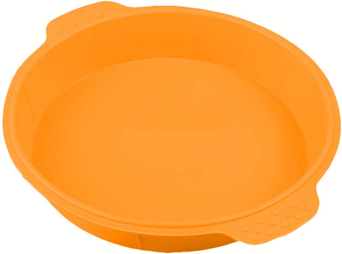 Форма для выпечки Доляна Круг, с ручками, цвет: оранжевый, 25 х 4,5 см2389234_оранжевыйОт качества посуды зависит не только вкус еды, но и здоровье человека. Форма для выпечки Круг с ручками 25х4,5 см, цвета — товар, соответствующий российским стандартам качества. Любой хозяйке будет приятно держать его в руках. С нашей посудой и кухонной утварью приготовление еды и сервировка стола превратятся в настоящий праздник.