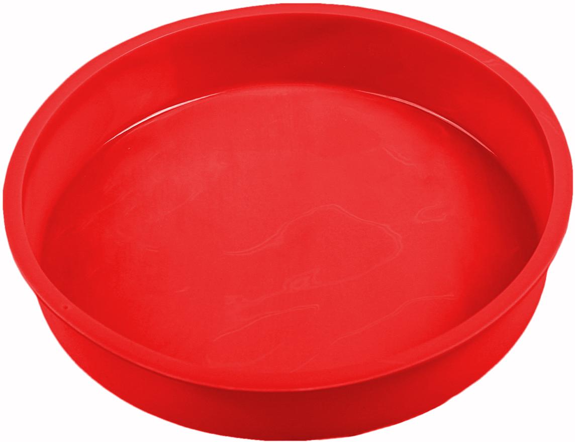 Форма для выпечки Доляна Круг, цвет: красный, 28 х 4,5 см1057135_красныйФорма для выпечки из силикона — современное решение для практичных и радушных хозяек. Оригинальный предмет позволяет готовить в духовке любимые блюда из мяса, рыбы, птицы и овощей, а также вкуснейшую выпечку. Почему это изделие должно быть на кухне? блюдо сохраняет нужную форму и легко отделяется от стенок после приготовления; высокая термостойкость (от –40 до 230 ?) позволяет применять форму в духовых шкафах и морозильных камерах; небольшая масса делает эксплуатацию предмета простой даже для хрупкой женщины; силикон пригоден для посудомоечных машин; высокопрочный материал делает форму долговечным инструментом; при хранении предмет занимает мало места. Советы по использованию формы Перед первым применением промойте предмет теплой водой. В процессе приготовления используйте кухонный инструмент из дерева, пластика или силикона. Перед извлечением блюда из силиконовой формы дайте ему немного остыть, осторожно отогните края предмета. Готовьте с удовольствием!