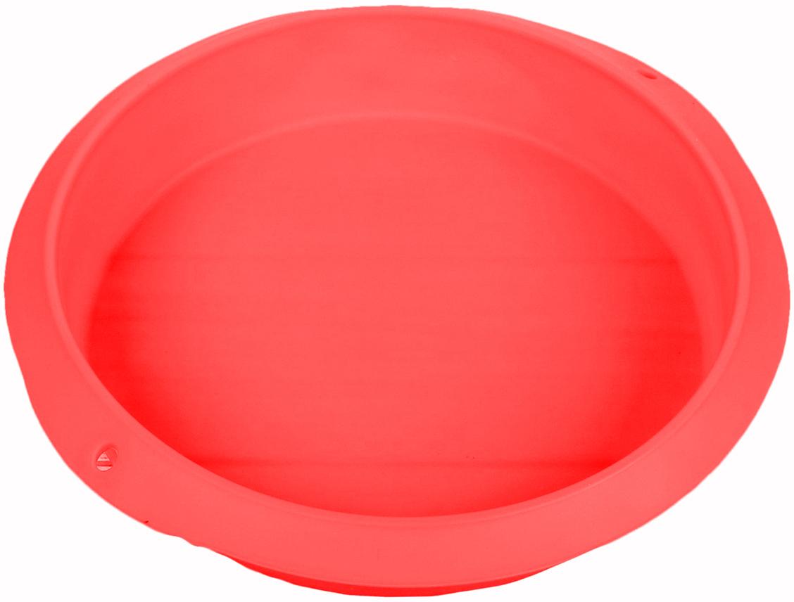 Форма для выпечки Доляна Круг, цвет: красный, 28 х 5,5 см2581347_красныйОт качества посуды зависит не только вкус еды, но и здоровье человека. — товар, соответствующий российским стандартам качества. Любой хозяйке будет приятно держать его в руках. С нашей посудой и кухонной утварью приготовление еды и сервировка стола превратятся в настоящий праздник. Как выбрать форму для выпечки – статья на OZON Гид.