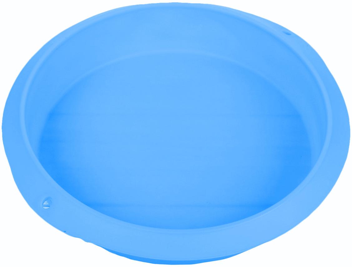 Форма для выпечки Доляна Круг, цвет: голубой, 28 х 5,5 см2581347_голубойОт качества посуды зависит не только вкус еды, но и здоровье человека. — товар, соответствующий российским стандартам качества. Любой хозяйке будет приятно держать его в руках. С нашей посудой и кухонной утварью приготовление еды и сервировка стола превратятся в настоящий праздник.