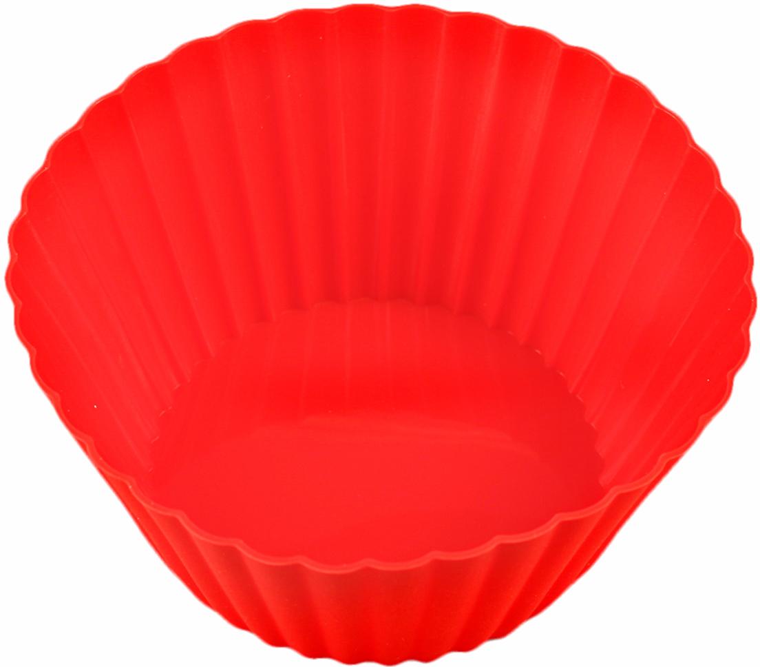 Форма для выпечки Доляна Круг. Риб, цвет: красный, 15 см811941_красныйФорма для выпечки из силикона — современное решение для практичных и радушных хозяек. Оригинальный предмет позволяет готовить в духовке любимые блюда из мяса, рыбы, птицы и овощей, а также вкуснейшую выпечку. Почему это изделие должно быть на кухне? блюдо сохраняет нужную форму и легко отделяется от стенок после приготовления; высокая термостойкость (от –40 до 230 ?) позволяет применять форму в духовых шкафах и морозильных камерах; небольшая масса делает эксплуатацию предмета простой даже для хрупкой женщины; силикон пригоден для посудомоечных машин; высокопрочный материал делает форму долговечным инструментом; при хранении предмет занимает мало места. Советы по использованию формы Перед первым применением промойте предмет теплой водой. В процессе приготовления используйте кухонный инструмент из дерева, пластика или силикона. Перед извлечением блюда из силиконовой формы дайте ему немного остыть, осторожно отогните края предмета. Готовьте с удовольствием!