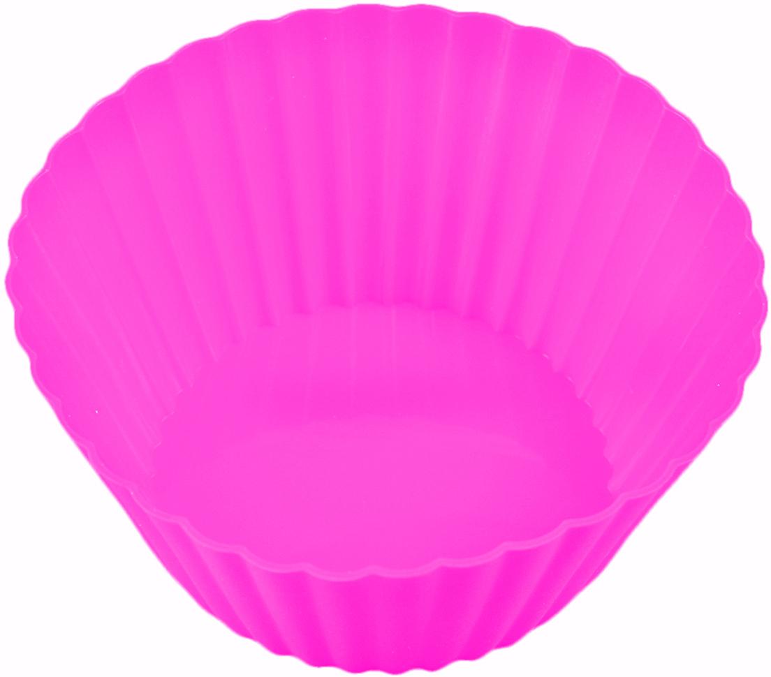Форма для выпечки Доляна Круг. Риб, цвет: розовый, 15 см811941_розовыйФорма для выпечки из силикона — современное решение для практичных и радушных хозяек. Оригинальный предмет позволяет готовить в духовке любимые блюда из мяса, рыбы, птицы и овощей, а также вкуснейшую выпечку. Почему это изделие должно быть на кухне? блюдо сохраняет нужную форму и легко отделяется от стенок после приготовления; высокая термостойкость (от –40 до 230 ?) позволяет применять форму в духовых шкафах и морозильных камерах; небольшая масса делает эксплуатацию предмета простой даже для хрупкой женщины; силикон пригоден для посудомоечных машин; высокопрочный материал делает форму долговечным инструментом; при хранении предмет занимает мало места. Советы по использованию формы Перед первым применением промойте предмет теплой водой. В процессе приготовления используйте кухонный инструмент из дерева, пластика или силикона. Перед извлечением блюда из силиконовой формы дайте ему немного остыть, осторожно отогните края предмета. Готовьте с удовольствием!