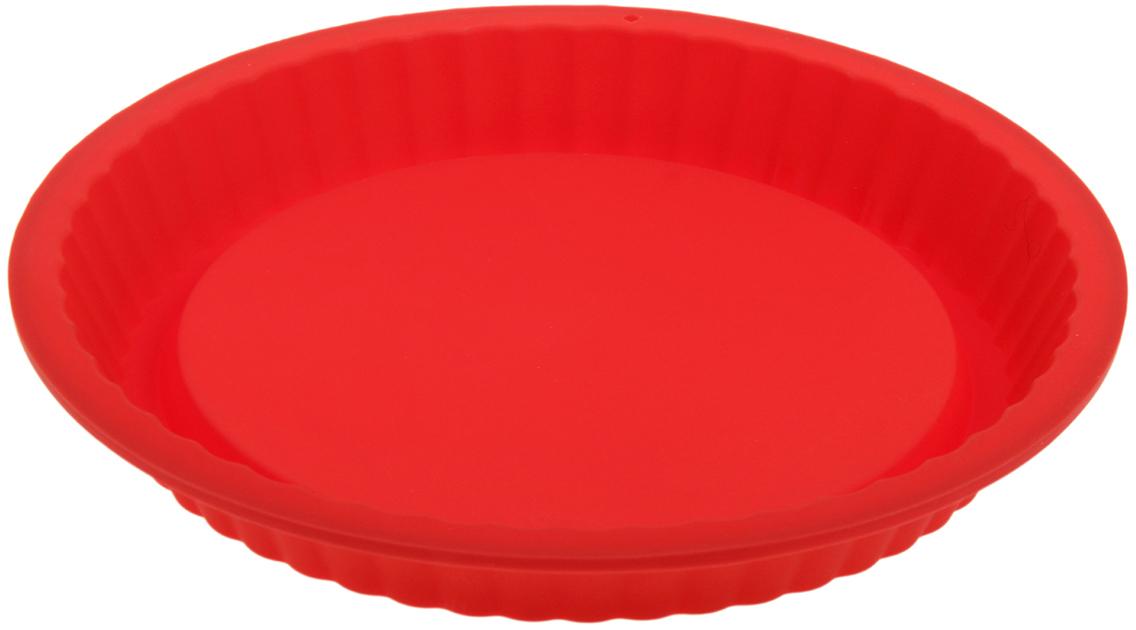 Форма для выпечки Доляна Рифленый круг, цвет: красный, 27 х 3,5 см1000346_красныйФорма для выпечки из силикона — современное решение для практичных и радушных хозяек. Оригинальный предмет позволяет готовить в духовке любимые блюда из мяса, рыбы, птицы и овощей, а также вкуснейшую выпечку. Почему это изделие должно быть на кухне? блюдо сохраняет нужную форму и легко отделяется от стенок после приготовления; высокая термостойкость (от –40 до 230 ?) позволяет применять форму в духовых шкафах и морозильных камерах; небольшая масса делает эксплуатацию предмета простой даже для хрупкой женщины; силикон пригоден для посудомоечных машин; высокопрочный материал делает форму долговечным инструментом; при хранении предмет занимает мало места. Советы по использованию формы Перед первым применением промойте предмет теплой водой. В процессе приготовления используйте кухонный инструмент из дерева, пластика или силикона. Перед извлечением блюда из силиконовой формы дайте ему немного остыть, осторожно отогните края предмета. Готовьте с удовольствием!
