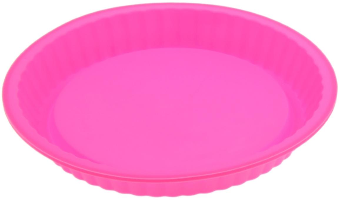Форма для выпечки Доляна Рифленый круг, цвет: розовый, 27 х 3,5 см1000346_розовыйФорма для выпечки из силикона - современное решение для практичных и радушных хозяек.Оригинальный предмет позволяет готовить в духовке любимые блюда, а также вкуснейшуювыпечку.Особенности:- блюдо сохраняет нужную форму и легко отделяется от стенок после приготовления;- высокая термостойкость (от -40°С до +230°С) позволяет применять форму в духовых шкафах иморозильных камерах; - небольшая масса делает эксплуатацию предмета простой даже для хрупкой женщины; - силикон пригоден для посудомоечных машин; - высокопрочный материал делает форму долговечным инструментом; - при хранении предмет занимает мало места. Перед первым применением промойте предмет теплой водой. В процессе приготовленияиспользуйте кухонный инструмент из дерева, пластика или силикона. Перед извлечением блюдаиз силиконовой формы дайте ему немного остыть, осторожно отогните края предмета.Каквыбрать форму для выпечки - статья на OZON Гид.