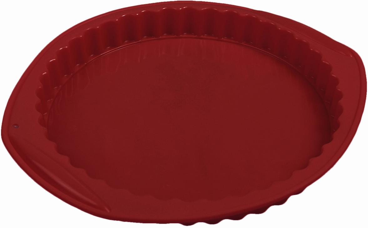 Форма для выпечки Доляна Рифленый круг, с ручками, цвет: бордовый, 30 х 27 х 3,2 см2582082_бордовыйОт качества посуды зависит не только вкус еды, но и здоровье человека. Форма для выпечки 30х27х3,2 см Рифленый круг, с ручками, цвета — товар, соответствующий российским стандартам качества. Любой хозяйке будет приятно держать его в руках. С нашей посудой и кухонной утварью приготовление еды и сервировка стола превратятся в настоящий праздник.