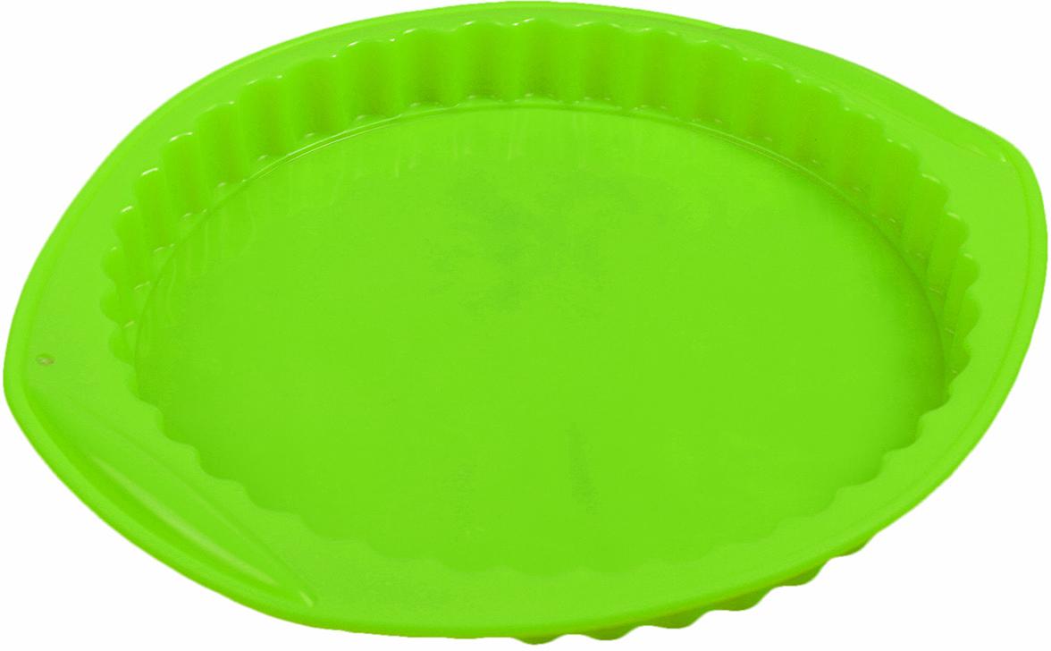 Форма для выпечки Доляна Рифленый круг, с ручками, цвет: зеленый, 30 х 27 х 3,2 см2582082_зеленыйОт качества посуды зависит не только вкус еды, но и здоровье человека. Форма для выпечки 30х27х3,2 см Рифленый круг, с ручками, цвета — товар, соответствующий российским стандартам качества. Любой хозяйке будет приятно держать его в руках. С нашей посудой и кухонной утварью приготовление еды и сервировка стола превратятся в настоящий праздник.