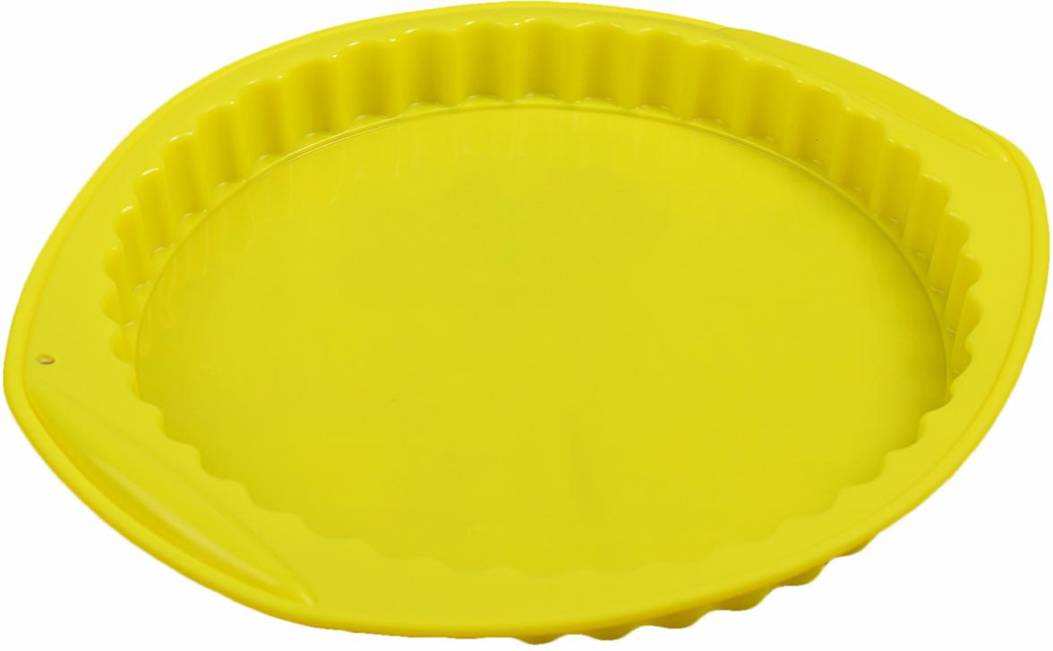 Форма для выпечки Доляна Рифленый круг, с ручками, цвет: желтый, 30 х 27 х 3,2 см2582082_желтыйОт качества посуды зависит не только вкус еды, но и здоровье человека. Форма для выпечки 30х27х3,2 см Рифленый круг, с ручками, цвета — товар, соответствующий российским стандартам качества. Любой хозяйке будет приятно держать его в руках. С нашей посудой и кухонной утварью приготовление еды и сервировка стола превратятся в настоящий праздник.