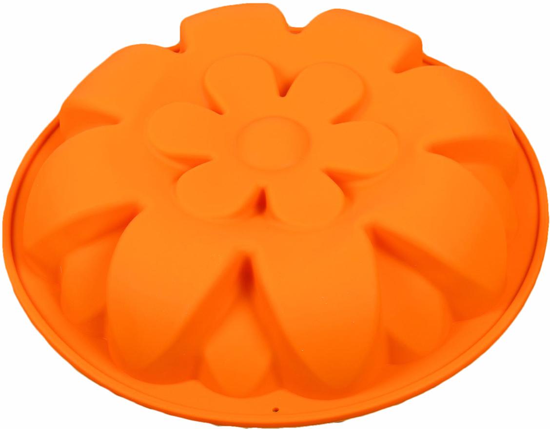 Форма для выпечки Доляна Ромашка в ромашке, цвет: оранжевый, 26 х 4,5 см2389126_оранжевыйФорма для выпечки из силикона — современное решение для практичных и радушных хозяек. Оригинальный предмет позволяет готовить в духовке любимые блюда из мяса, рыбы, птицы и овощей, а также вкуснейшую выпечку. Почему это изделие должно быть на кухне? блюдо сохраняет нужную форму и легко отделяется от стенок после приготовления; высокая термостойкость (от –40 до 230 ?) позволяет применять форму в духовых шкафах и морозильных камерах; небольшая масса делает эксплуатацию предмета простой даже для хрупкой женщины; силикон пригоден для посудомоечных машин; высокопрочный материал делает форму долговечным инструментом; при хранении предмет занимает мало места. Советы по использованию формы Перед первым применением промойте предмет теплой водой. В процессе приготовления используйте кухонный инструмент из дерева, пластика или силикона. Перед извлечением блюда из силиконовой формы дайте ему немного остыть, осторожно отогните края предмета. Готовьте с удовольствием!