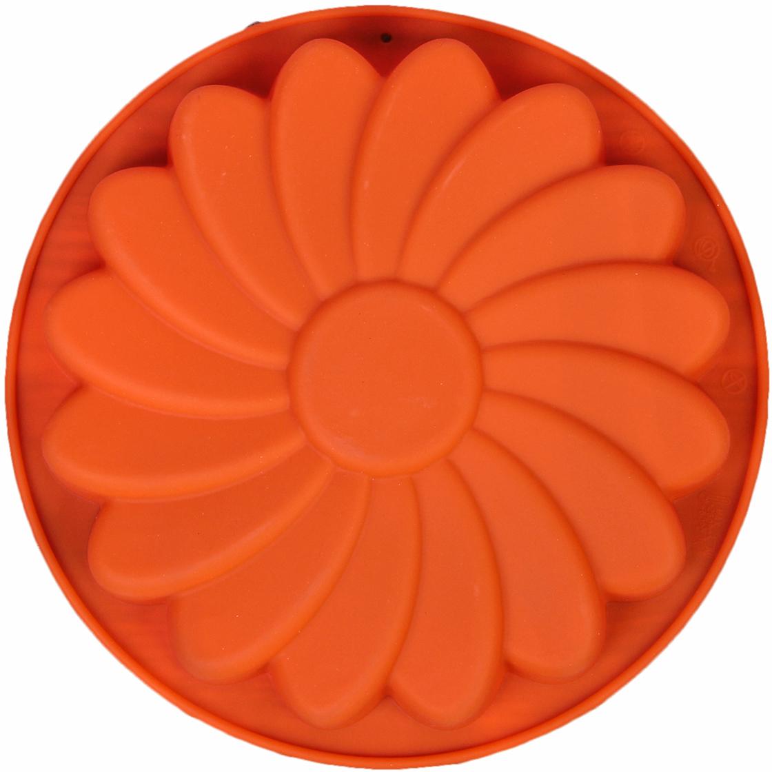 Форма для выпечки Доляна Ромашка, цвет: оранжевый, 19 х 3,3 см2570354_оранжевыйОт качества посуды зависит не только вкус еды, но и здоровье человека. — товар, соответствующий российским стандартам качества. Любой хозяйке будет приятно держать его в руках. С нашей посудой и кухонной утварью приготовление еды и сервировка стола превратятся в настоящий праздник.