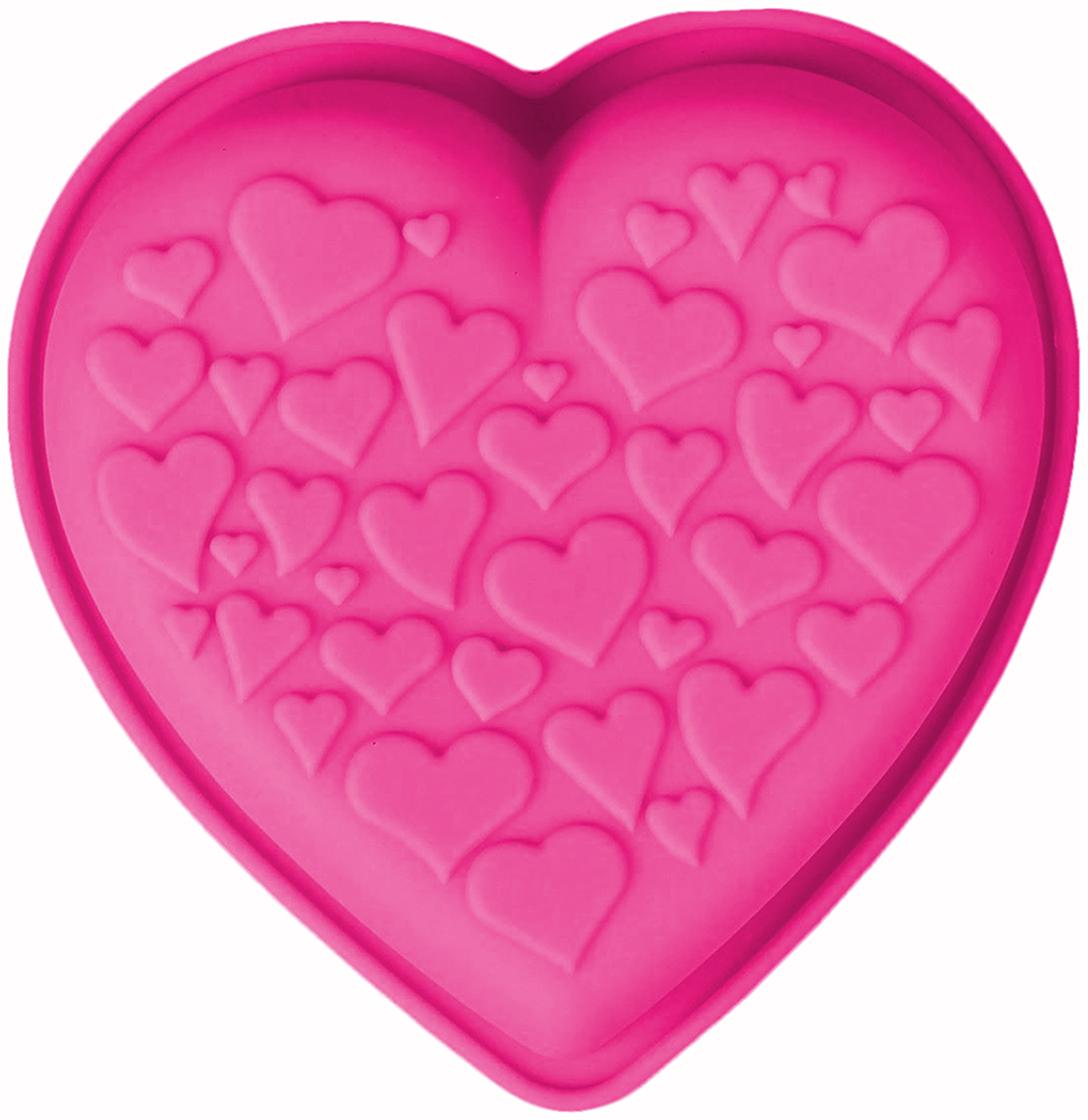 Форма для выпечки Доляна Сердце сердец, цвет: розовый, 10,5 х 14 х 3,5 см2389440_розовыйФорма для выпечки из силикона — современное решение для практичных и радушных хозяек. Оригинальный предмет позволяет готовить в духовке любимые блюда из мяса, рыбы, птицы и овощей, а также вкуснейшую выпечку. Почему это изделие должно быть на кухне? блюдо сохраняет нужную форму и легко отделяется от стенок после приготовления; высокая термостойкость (от –40 до 230 ?) позволяет применять форму в духовых шкафах и морозильных камерах; небольшая масса делает эксплуатацию предмета простой даже для хрупкой женщины; силикон пригоден для посудомоечных машин; высокопрочный материал делает форму долговечным инструментом; при хранении предмет занимает мало места. Советы по использованию формы Перед первым применением промойте предмет теплой водой. В процессе приготовления используйте кухонный инструмент из дерева, пластика или силикона. Перед извлечением блюда из силиконовой формы дайте ему немного остыть, осторожно отогните края предмета. Готовьте с удовольствием!