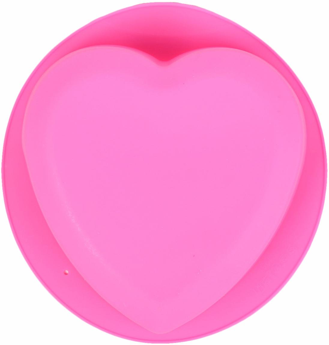 Форма для выпечки Доляна Сердце. Круг, цвет: розовый, 22 х 20 х 5 см2581344_розовыйОт качества посуды зависит не только вкус еды, но и здоровье человека. — товар, соответствующий российским стандартам качества. Любой хозяйке будет приятно держать его в руках. С нашей посудой и кухонной утварью приготовление еды и сервировка стола превратятся в настоящий праздник.