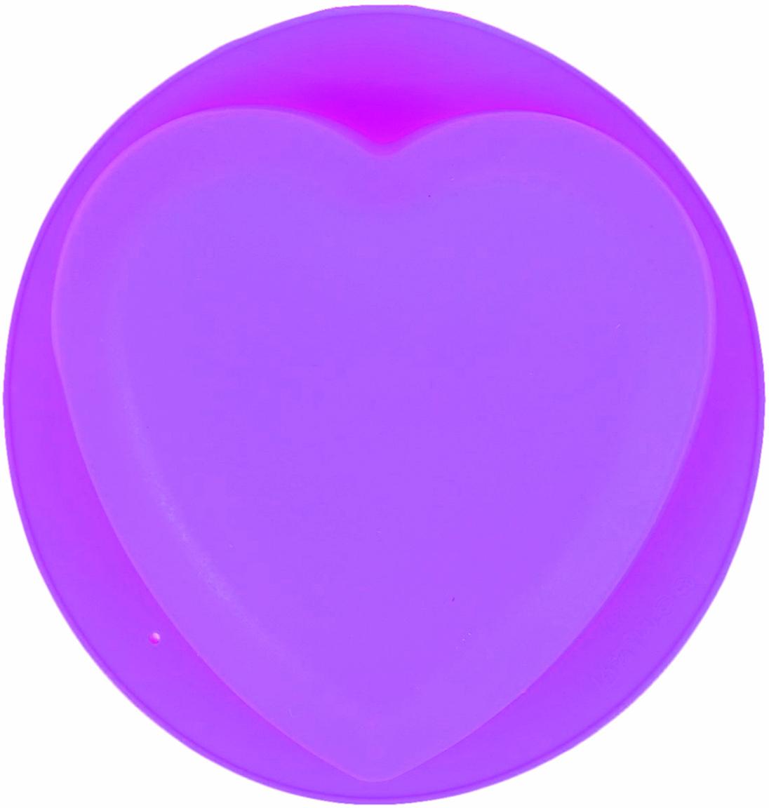 Форма для выпечки Доляна Сердце. Круг, цвет: фиолетовый, 22 х 20 х 5 см2581344_фиолетовыйОт качества посуды зависит не только вкус еды, но и здоровье человека. — товар, соответствующий российским стандартам качества. Любой хозяйке будет приятно держать его в руках. С нашей посудой и кухонной утварью приготовление еды и сервировка стола превратятся в настоящий праздник.