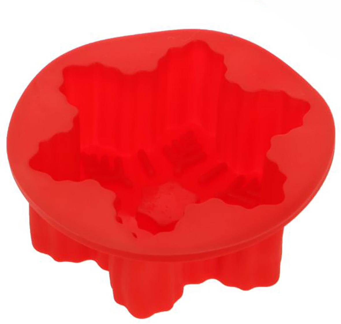 Форма для выпечки Доляна Снежинка, цвет: красный, 10 х 10 х 3,5 см1403955_красныйФорма для выпечки из силикона — современное решение для практичных и радушных хозяек. Оригинальный предмет позволяет готовить в духовке любимые блюда из мяса, рыбы, птицы и овощей, а также вкуснейшую выпечку. Почему это изделие должно быть на кухне? блюдо сохраняет нужную форму и легко отделяется от стенок после приготовления; высокая термостойкость (от –40 до 230 ?) позволяет применять форму в духовых шкафах и морозильных камерах; небольшая масса делает эксплуатацию предмета простой даже для хрупкой женщины; силикон пригоден для посудомоечных машин; высокопрочный материал делает форму долговечным инструментом; при хранении предмет занимает мало места. Советы по использованию формы Перед первым применением промойте предмет теплой водой. В процессе приготовления используйте кухонный инструмент из дерева, пластика или силикона. Перед извлечением блюда из силиконовой формы дайте ему немного остыть, осторожно отогните края предмета. Готовьте с удовольствием!