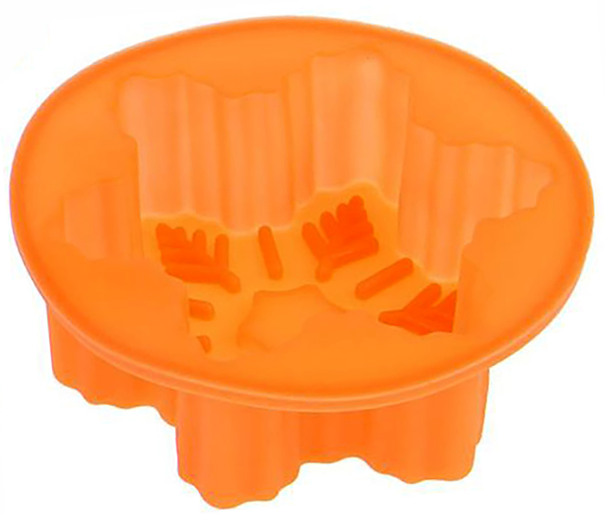 Форма для выпечки Доляна Снежинка, цвет: оранжевый, 10 х 10 х 3,5 см1403955_оранжевыйФорма для выпечки из силикона — современное решение для практичных и радушных хозяек. Оригинальный предмет позволяет готовить в духовке любимые блюда из мяса, рыбы, птицы и овощей, а также вкуснейшую выпечку.Почему это изделие должно быть на кухне?блюдо сохраняет нужную форму и легко отделяется от стенок после приготовления;высокая термостойкость (от –40 до 230 ?) позволяет применять форму в духовых шкафах и морозильных камерах;небольшая масса делает эксплуатацию предмета простой даже для хрупкой женщины;силикон пригоден для посудомоечных машин;высокопрочный материал делает форму долговечным инструментом;при хранении предмет занимает мало места.Советы по использованию формыПеред первым применением промойте предмет теплой водой.В процессе приготовления используйте кухонный инструмент из дерева, пластика или силикона.Перед извлечением блюда из силиконовой формы дайте ему немного остыть, осторожно отогните края предмета.Готовьте с удовольствием!
