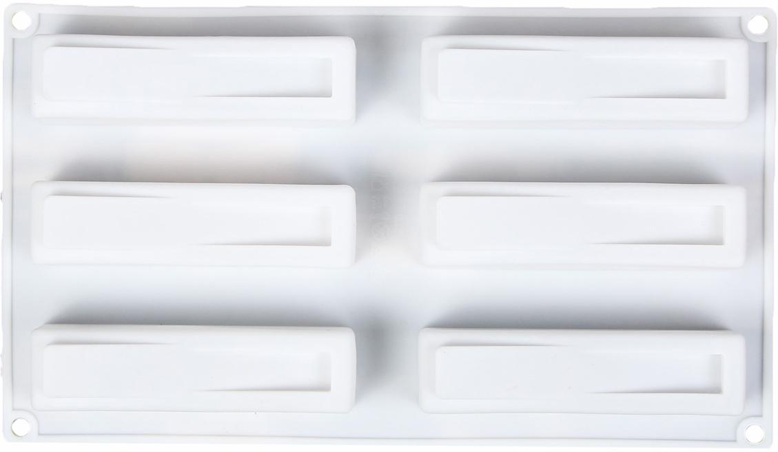 Форма для выпечки и муссовых десертов Доляна Качели, 6 ячеек, 30 х 17,5 х 2,8 см2582023От качества посуды зависит не только вкус еды, но и здоровье человека. Форма для выпечки и муссовых десертов, 6 ячеек, 30х17,5х2,8 см Качели, цвет белый — товар, соответствующий российским стандартам качества. Любой хозяйке будет приятно держать его в руках. С нашей посудой и кухонной утварью приготовление еды и сервировка стола превратятся в настоящий праздник.