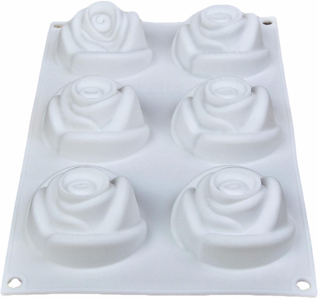 Форма для выпечки и муссовых десертов Доляна Розы, 6 ячеек, 30 х 17,5 х 6 см2582031От качества посуды зависит не только вкус еды, но и здоровье человека. Форма для выпечки и муссовых десертов, 6 ячеек, 30х17,5х6 см Розы, цвет белый — товар, соответствующий российским стандартам качества. Любой хозяйке будет приятно держать его в руках. С нашей посудой и кухонной утварью приготовление еды и сервировка стола превратятся в настоящий праздник.