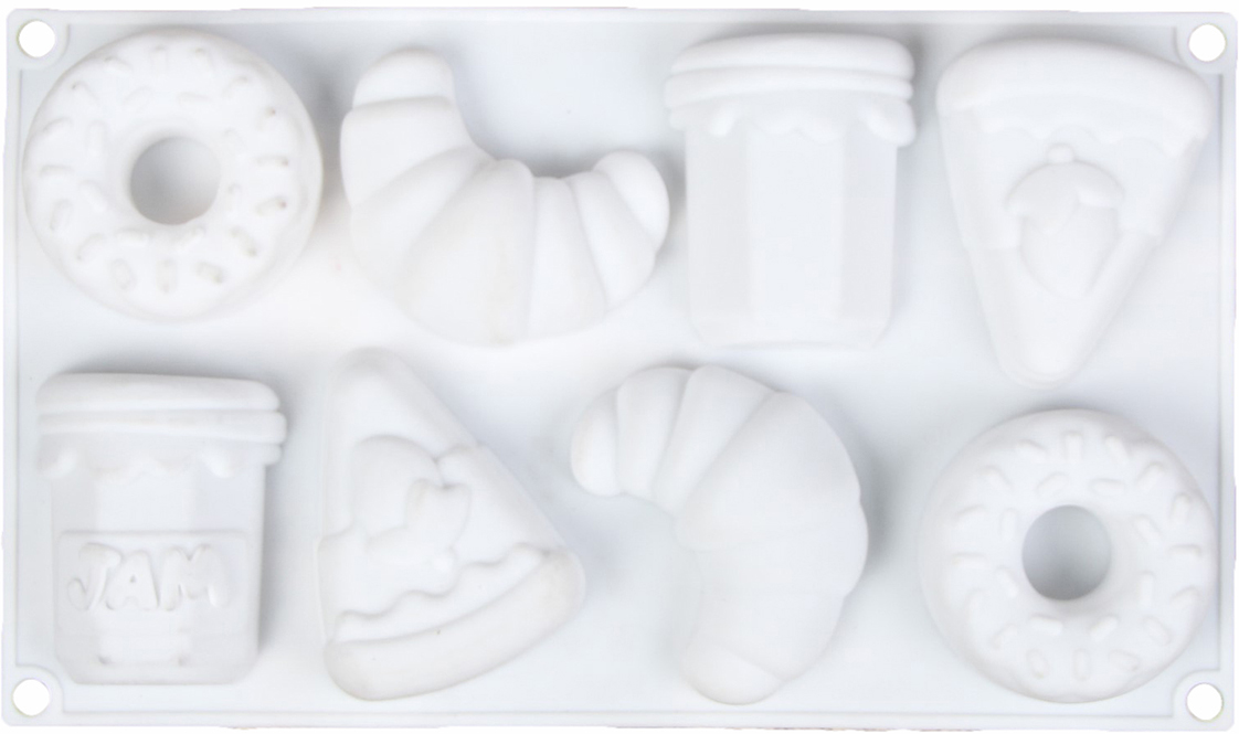 Форма для выпечки и муссовых десертов Доляна Самое сладкое, 8 ячеек, 30 х 17,5 х 3 см2582022От качества посуды зависит не только вкус еды, но и здоровье человека. Форма для выпечки и муссовых десертов, 8 ячеек, 30х17,5х3 см Самое сладкое, цвет белый — товар, соответствующий российским стандартам качества. Любой хозяйке будет приятно держать его в руках. С нашей посудой и кухонной утварью приготовление еды и сервировка стола превратятся в настоящий праздник.