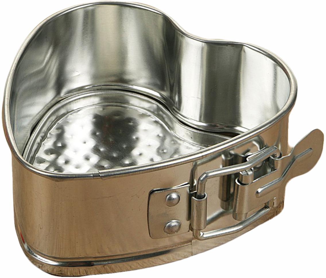 Форма для выпечки Доляна Сердце. Фабиан, разъемная, 10,5 х 10,5 х 4,5 см2313583По-настоящему вкусная выпечка получается только тогда, когда используется качественный кухонный инструмент. Металлическая форма необходима тем, кто хочет готовить самые лучшие бисквиты и кексы. Особенности: съемное дно облегчает извлечение готового блюда; гладкая поверхность упрощает мойку; высокая прочность металла обеспечивает долговечность формы. Благодаря оригинальной форме можно приготовить романтическое блюдо для романтического свидания или годовщины. Перед применением рекомендуется смазывать изделие небольшим количеством подсолнечного масла.