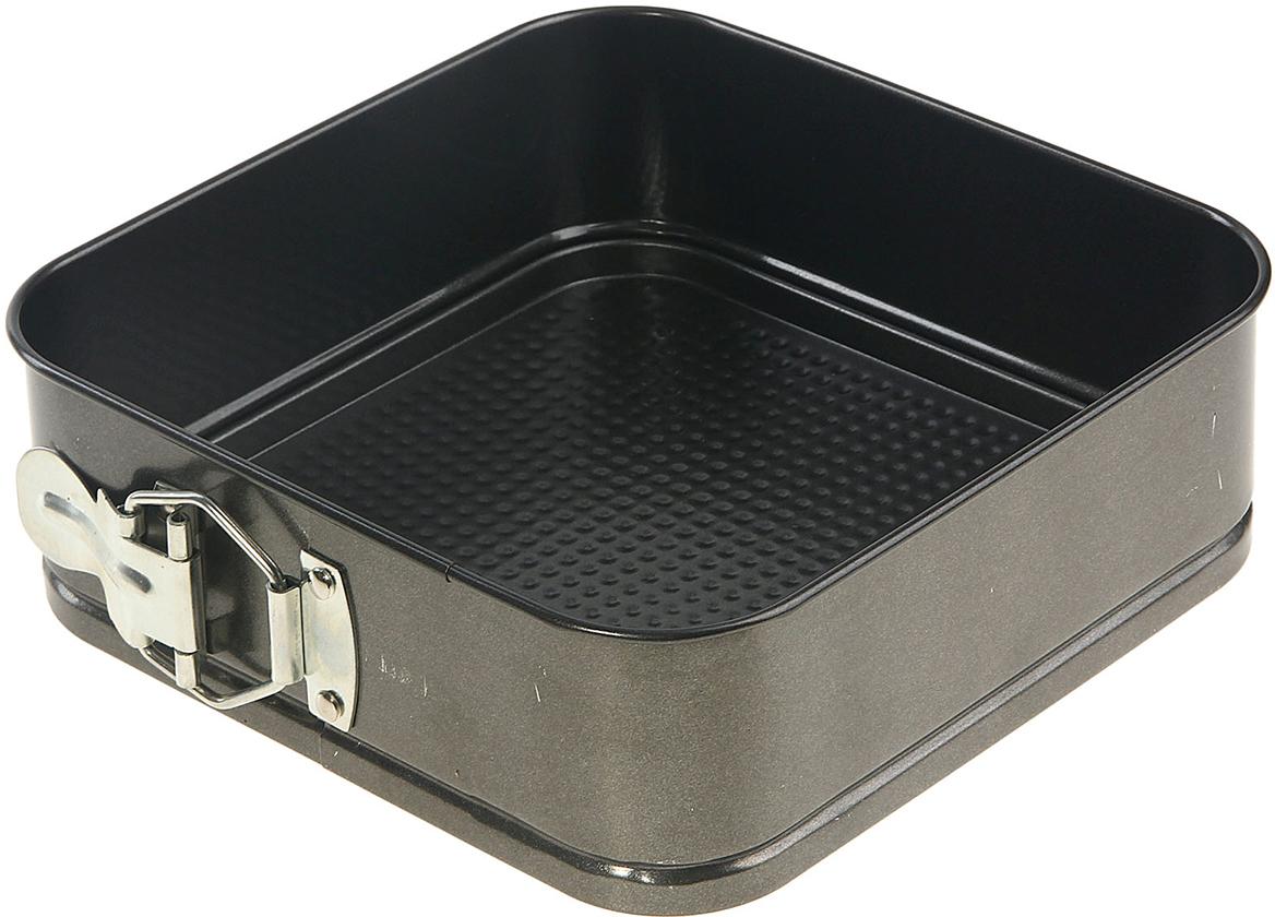 Форма для выпечки Доляна Элин. Квадрат, разъемная, с антипригарным покрытием, 20 х 6,5 см906353Форма с антипригарным покрытием пригодится каждому повару, который привык готовить быстрои вкусно. Достоинства предмета Материал - углеродистая сталь - отличается особой прочностью и сохраняет всеэксплуатационные свойства при температуре до +450 °С. Эффективное теплораспределение ускоряет процесс готовки. Антипригарное покрытие оберегает блюда от пригорания и сокращает расход масла. Поверхность не впитывает запахов и не вступает в реакции с продуктами питания. Форма легко отмывается. При аккуратном использовании изделие прослужит долгие годы. Рекомендуется избегатьприменения металлических предметов, губок и высокоабразивных моющих средств. Передпервым использованием тщательно промойте форму.