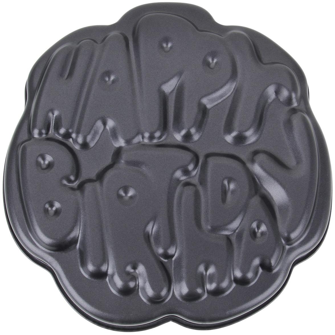 Форма для выпечки Доляна Happy Birthday, с антипригарным покрытием, 29 х 29 х 4,8 см1262293Оригинальная форма с антипригарным покрытием пригодится каждому повару, который привык готовить быстро, вкусно и...красиво. Достоинства предмета Материал — углеродистая сталь — отличается особой прочностью и сохраняет все эксплуатационные свойства при температуре до +450 °С. Эффективное теплораспределение ускоряет процесс готовки. Антипригарное покрытие оберегает блюда от пригорания и сокращает расход масла. Поверхность не впитывает запахов и не вступает в реакции с продуктами питания. Форма легко отмывается. При аккуратном использовании изделие прослужит долгие годы. Рекомендуется избегать применения металлических предметов, губок и высокоабразивных моющих средств. Перед первым использованием тщательно промойте форму.