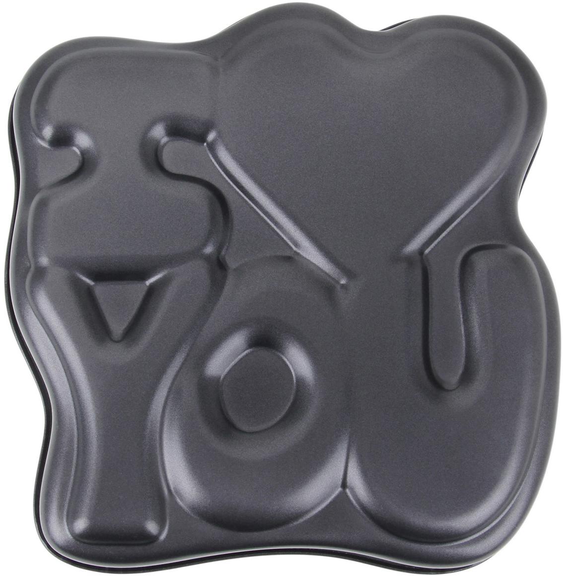 Форма для выпечки Доляна I love you, с антипригарным покрытием, 28 х 28 х 5 см1262294Оригинальная форма с антипригарным покрытием пригодится каждому повару, который привык готовить быстро, вкусно и...красиво. Достоинства предмета Материал — углеродистая сталь — отличается особой прочностью и сохраняет все эксплуатационные свойства при температуре до +450 °С. Эффективное теплораспределение ускоряет процесс готовки. Антипригарное покрытие оберегает блюда от пригорания и сокращает расход масла. Поверхность не впитывает запахов и не вступает в реакции с продуктами питания. Форма легко отмывается. При аккуратном использовании изделие прослужит долгие годы. Рекомендуется избегать применения металлических предметов, губок и высокоабразивных моющих средств. Перед первым использованием тщательно промойте форму.