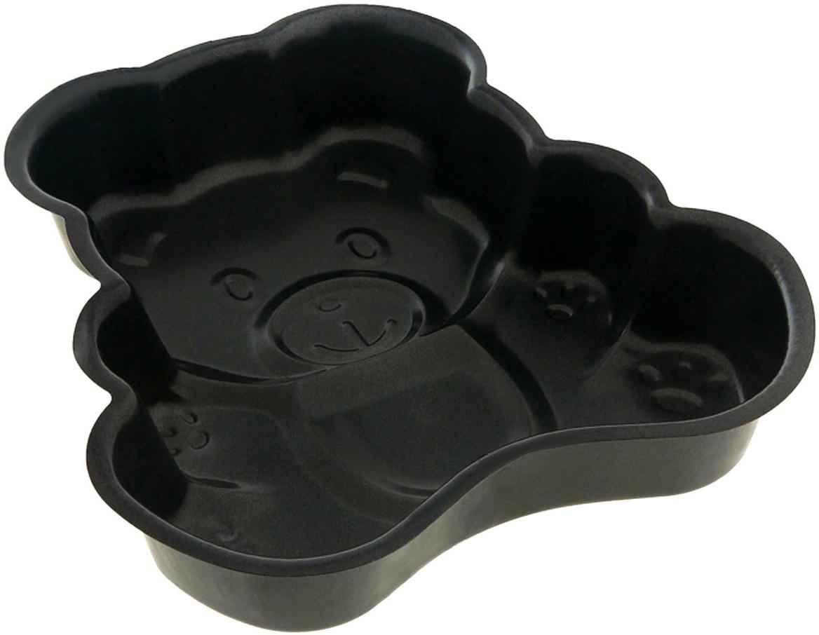 Форма для выпечки Доляна Медведь, с антипригарным покрытием, 23 х 25 х 4,5 см830043Оригинальная форма с антипригарным покрытием пригодится каждому повару, который привык готовить быстро, вкусно и...красиво. Достоинства предмета Материал — углеродистая сталь — отличается особой прочностью и сохраняет все эксплуатационные свойства при температуре до +450 °С. Эффективное теплораспределение ускоряет процесс готовки. Антипригарное покрытие оберегает блюда от пригорания и сокращает расход масла. Поверхность не впитывает запахов и не вступает в реакции с продуктами питания. Форма легко отмывается. При аккуратном использовании изделие прослужит долгие годы. Рекомендуется избегать применения металлических предметов, губок и высокоабразивных моющих средств. Перед первым использованием тщательно промойте форму.