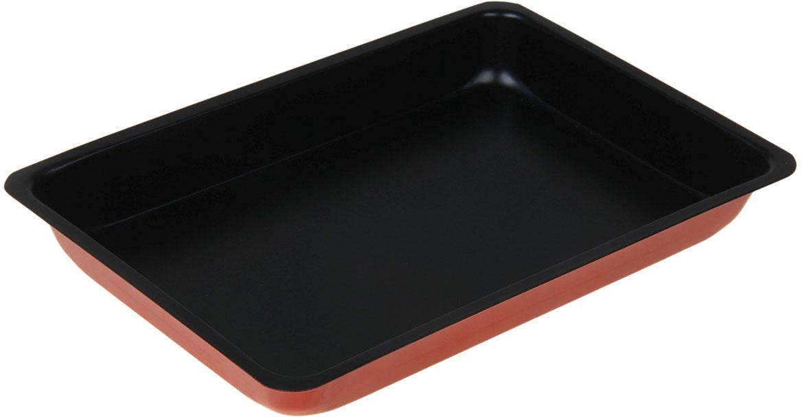 Форма для выпечки Доляна Прямоугольник. Ренард, с антипригарным покрытием, 31 х 21 х 4 см1003552Форма с антипригарным покрытием Доляна Прямоугольник. Ренард пригодится каждому повару, который привык готовить быстро и вкусно. Достоинства: Материал — углеродистая сталь — отличается особой прочностью и сохраняет все эксплуатационные свойства при температуре до +450 °С. Эффективное теплораспределение ускоряет процесс готовки. Антипригарное покрытие оберегает блюда от пригорания и сокращает расход масла. Поверхность не впитывает запахов и не вступает в реакции с продуктами питания. Форма легко отмывается. При аккуратном использовании изделие прослужит долгие годы. Рекомендуется избегать применения металлических предметов, губок и высокоабразивных моющих средств. Перед первым использованием тщательно промойте форму.