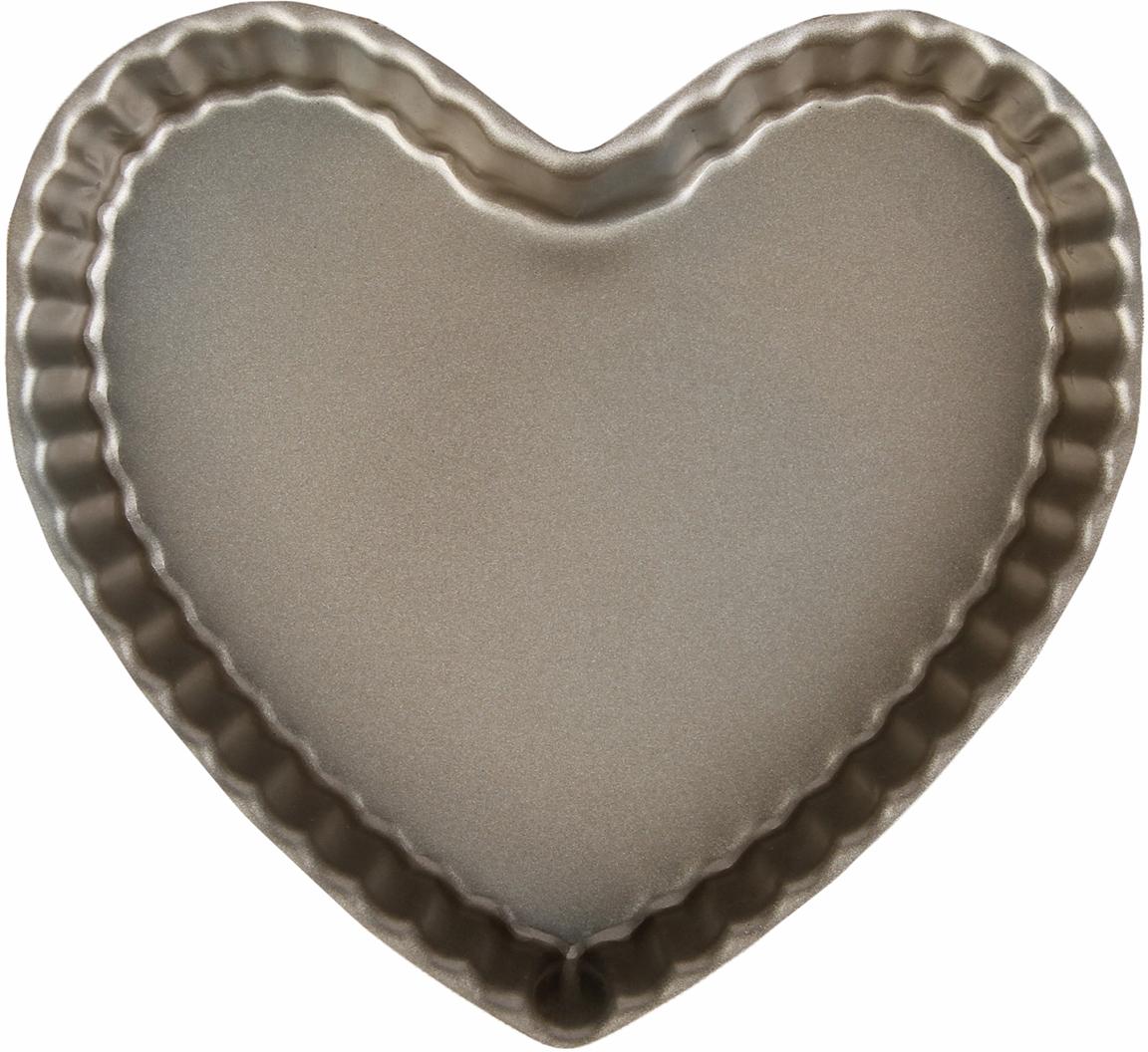 Форма для выпечки Доляна Рифленое сердце, с антипригарным покрытием, 25,5 х 4 см2601005От качества посуды зависит не только вкус еды, но и здоровье человека. Форма для выпечки 25,5х4 см Рифленое сердце, антипригарное покрытие — товар, соответствующий российским стандартам качества. Любой хозяйке будет приятно держать его в руках. С нашей посудой и кухонной утварью приготовление еды и сервировка стола превратятся в настоящий праздник.
