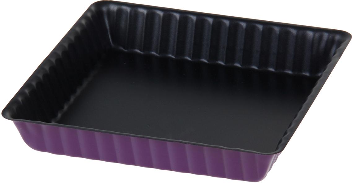 Форма для выпечки Доляна Рифленый квадрат. Доротея, с антипригарным покрытием, цвет: фиолетовый, 17 х 3 см1046829_фиолетовый, черныйОт качества посуды зависит не только вкус еды, но и здоровье человека. Форма для выпечки с антипригарным покрытием Рифленый квадрат. Доротея 17х3 см — товар, соответствующий российским стандартам качества. Любой хозяйке будет приятно держать его в руках. С нашей посудой и кухонной утварью приготовление еды и сервировка стола превратятся в настоящий праздник.
