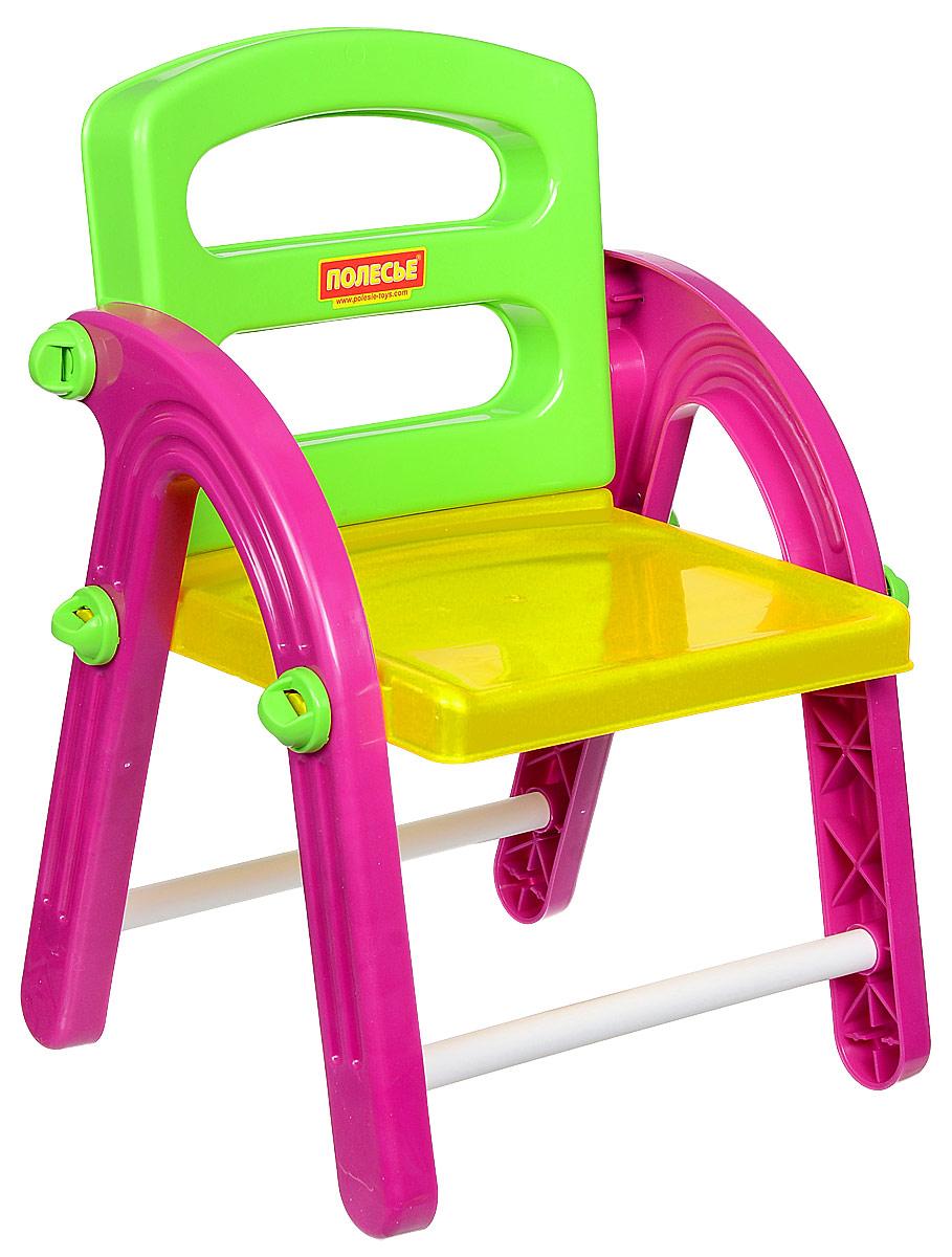 Полесье Стульчик детский Малыш цвет малиновый желтый салатовый -  Детская комната