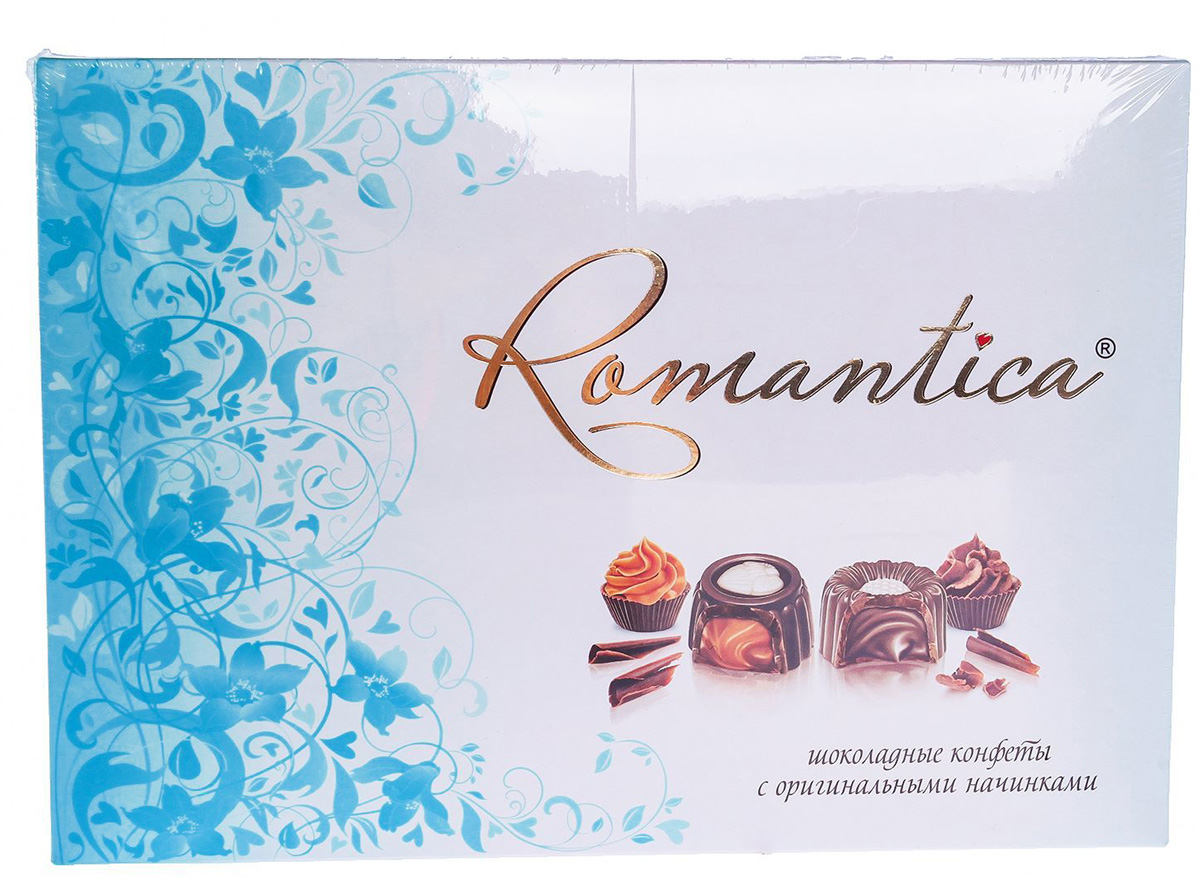 Славянка Romantica набор конфет (голубой), 160 г славянка romantica набор конфет 320 г бирюзовая упаковка