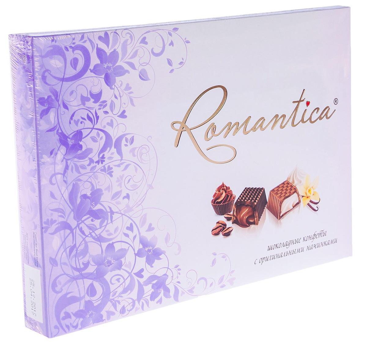 Славянка Romantica набор конфет (сиреневый), 160 г славянка romantica набор конфет 320 г бирюзовая упаковка