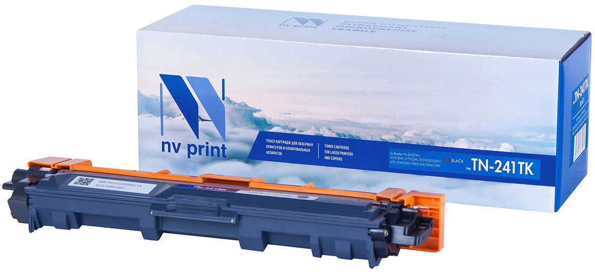 NV Print TN241T, Black тонер-картридж для Brother HL-3140CW/3150CDW/3170CDW/DCP-9020CDW/MFC-9140CDN/9330CDW/9340CDW brother lc1220y yellow картридж для brother dcp j525w mfc j430w mfc j825dw