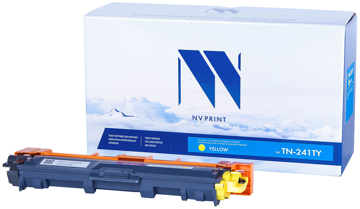 NV Print TN241T, Yellow тонер-картридж для Brother HL-3140CW/3150CDW/3170CDW/DCP-9020CDW/MFC-9140CDN/9330CDW/9340CDW картридж brother lc525xly yellow для dcp j100 j105 j200