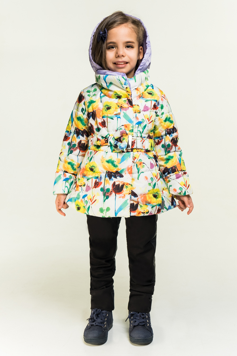 Комплект верхней одежды для девочки Boom!, цвет: белый. 80025_BOG. Размер 122