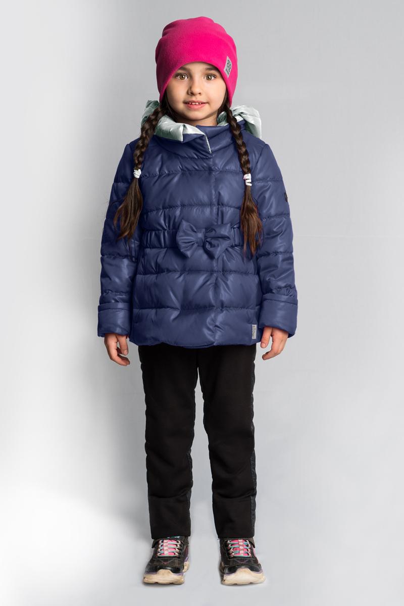 Комплект верхней одежды для девочки Boom!, цвет: темно-синий. 80025_BOG. Размер 122 брюки утепленные для девочки boom цвет темно синий 70333 bog вар 2 размер 104 3 4 года