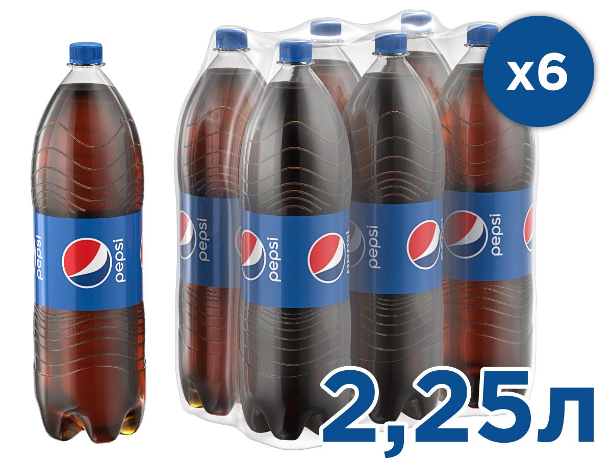 Pepsi-Cola напиток сильногазированный, 6 штук по 2,25 л оливковое масло cretan mill с сушёными томатами extra virgin 250 мл греция