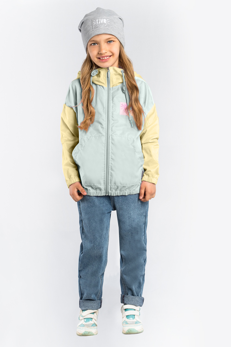 Куртка для девочки Boom!, цвет: желтый. 80022_BOG. Размер 11680022_BOG