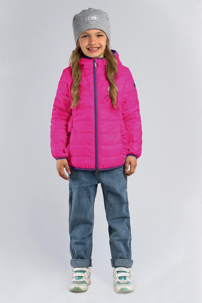 Куртка для девочки Boom!, цвет: розовый. 80028_BOG. Размер 12280028_BOGЛёгкая стёганая куртка Boom! для девочки выполнена из высококачественного материала. Модель с капюшоном застегивается на застежку-молнию. Куртка оформлена рюшами.