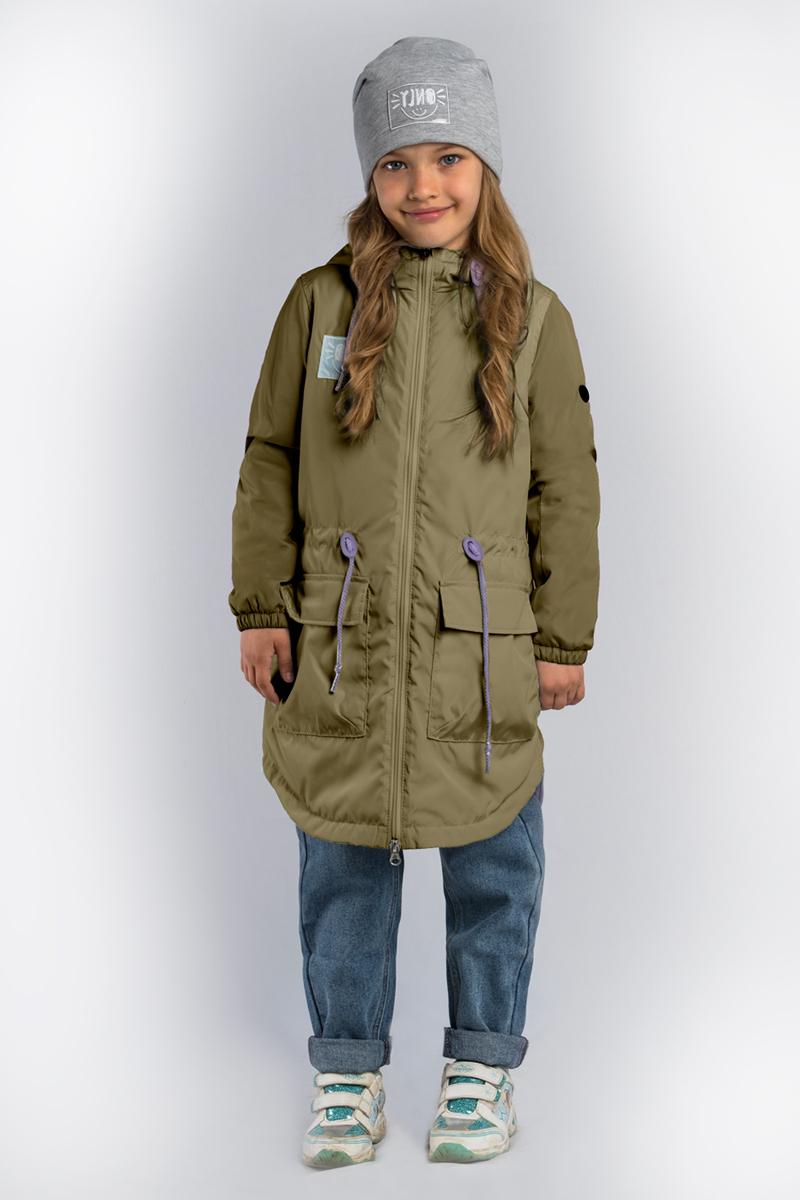 Куртка для девочки Boom!, цвет: хаки. 80029_BOG. Размер 152